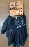 Перчатки садовые FIBERON (L) из полиэстера с нитриловым покрытием черные